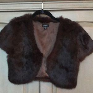 Fur bolero jacket